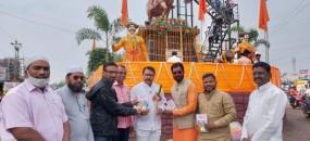 Shivaji Jayanti : Book Gifted to office bearers of Maratha Seva Sangh